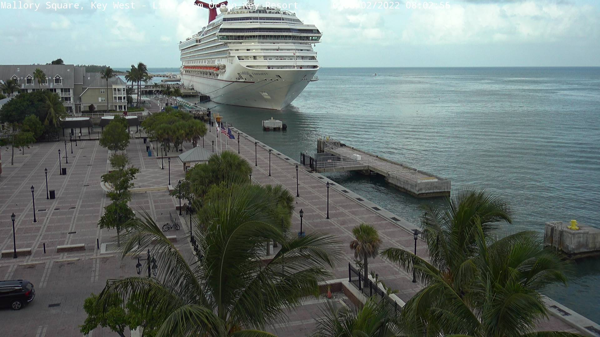 Mallory Square webcam, Key West, Florida